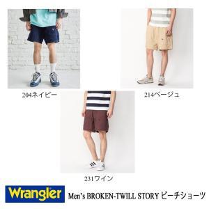 ラングラー ショートパンツ BROKEN-TWILL STORY ビーチショーツ メンズ Wrangler kt-gigaweb