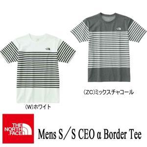 MENS S/S CEO α Border Tee(メンズ ショートスリーブセオアルファボーダーティー) / THE NORTH FACE(ザ・ノースフェイス)|kt-gigaweb