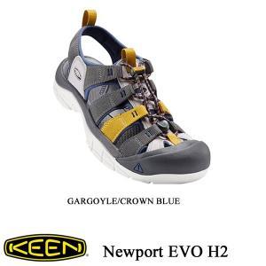 Men's NEWPORT H2 EVO (ニューポート H2 EVO) GARGOYLE/CROWN BLUE/ KEEN (キーン) kt-gigaweb