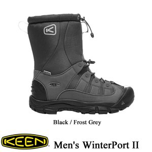 Men's WinterPort II  (メンズ ウィンターポート ツー) Black / Frost Grey【1017505】 / KEEN (キーン)|kt-gigaweb