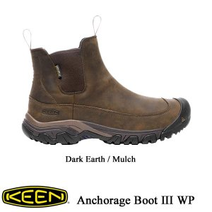 Men's Anchorage Boot III WP (アンカレッジ ブーツ スリー ウォータープルーフ) -  Dark Earth / Mulch - 【1017790】 /  KEEN(キーン) kt-gigaweb