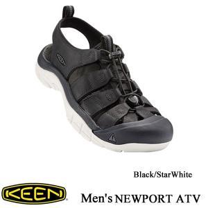 Men's NEWPORT ATV (ニューポート ATV) Black/StarWhite / KEEN (キーン)|kt-gigaweb