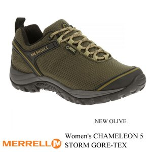 Women's CHAMELEON 5 STORM GORE-TEX (ウィメンズ カメレオン5 ストーム ゴアテックス) NEW OLIVE (ニューオリーブ) / MERRELL(メレル)|kt-gigaweb