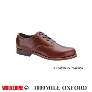 1000MILE OXFORD REDWOOD / W00070 (1000マイルオックスフォード レッドウッド) / WOLVERINE(ウルヴァリン)|kt-gigaweb