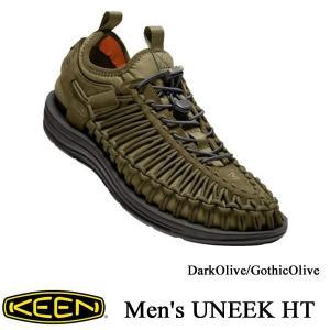 Men's UNEEK HT (ユニーク HT   オープンエアースニーカー) DarkOlive/GothicOlive / KEEN(キーン) kt-gigaweb