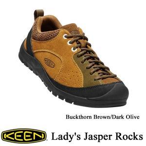 Lady's Jasper Rocks (レディース ジャスパー ロックス) Buckthorn Brown/Dark Olive / KEEN(キーン)|kt-gigaweb