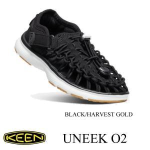 キーン キッズ シューズ ユニーク オーツー BLACK/HARVEST GOLD 15cm〜18.5cm KEEN|kt-gigaweb