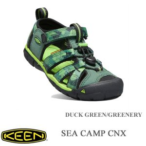 キーン キッズサンダル シーキャンプ CNX DUCK GREEN/GREENERY 20cm〜 KEEN|kt-gigaweb