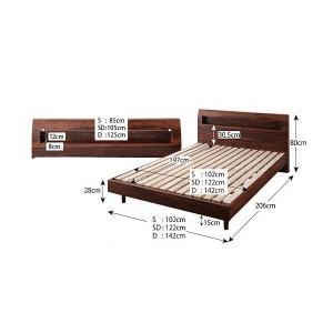 ベッド ベット シングルベッド シングルベット ローベッド マットレス付き セット 北欧家具 おしゃれ kubric 05