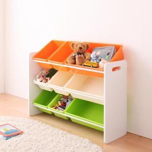 おもちゃ収納 おもちゃ箱 こども部屋収納 キッズ家具 子供部屋 木製 おしゃれ 人気 かわいい 3段|kubric
