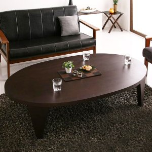 ローテーブル 折りたたみテーブル 円形テーブル ちゃぶ台 MADOKA まどか 楕円形 W150|kubric
