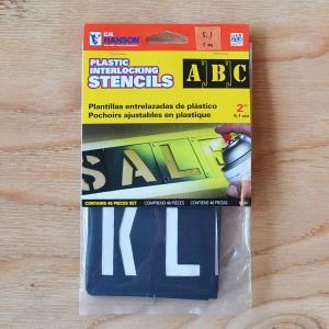プラスチック ステンシル  2インチ 5.1cm ハンソン社製|kucyubooks