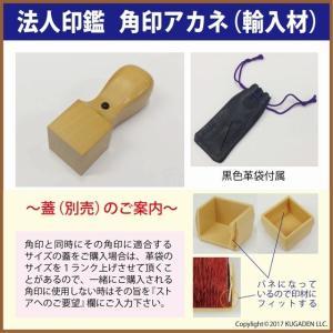 法人角印 アカネ(輸入材) 24mm 会社名(名称)15文字迄|kugain