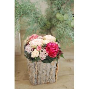 ナチュラルウッド アートフラワー(造花) | フラワーギフト フラワーインテリア 部屋の彩り おしゃれ 記念日 お祝い 誕生日プレゼント 贈り物|kugelfg