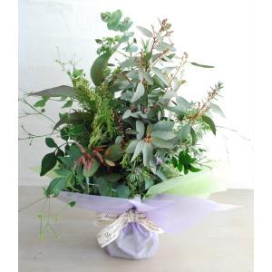 そのまま飾れるグリーンブーケ | ユーカリブーケ グリーンギフト グリーンインテリア 癒し アロマ 部屋の彩り 爽やか ナチュラル|kugelfg