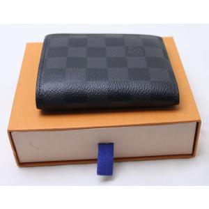 LV ヴィトン ダミエ 二つ折り財布 ダミエグラフィット ポルトフォイユスマート|kuinose78