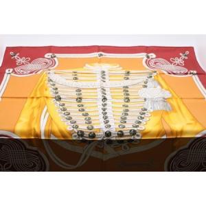 エルメススカーフ オレンジ/赤茶 BRANDEBOURGS kuinose78