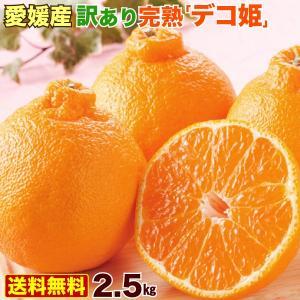 みかん 訳あり 春蜜柑 デコポンと同品種 不知火 愛媛産 完熟デコ姫2.5kg  大きさ不揃いご家庭...