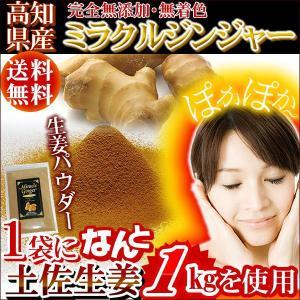 生姜 パウダー ミラクルジンジャー粉末 70g 高知産 土佐生姜100% 無 添加 乾燥生姜パウダー