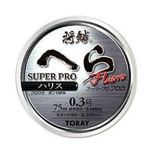 将鱗へらスーパープロフロロ ハリス75m巻 03〜06号 |kujirafc