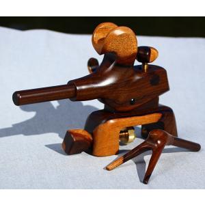国産シャム柿製の大砲小型万力 右利き用|kujirafc