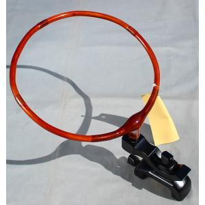 弓型コクタン万力 加工タモ置き台|kujirafc