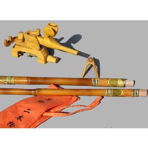 天然竹竿掛け2本もの + 木製大砲万力セット|kujirafc