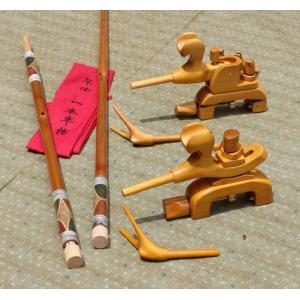 天然竹竿掛け1・5本もの + 木製万力セット|kujirafc