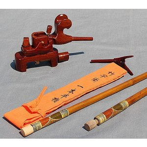 すぐに使える!短竿用竿掛け1・5本と大砲型万力セット|kujirafc