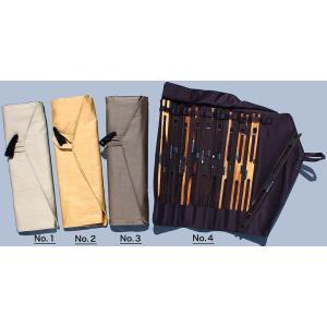 帆布風仕掛巻入れ 仕掛巻10本付き 4色から|kujirafc