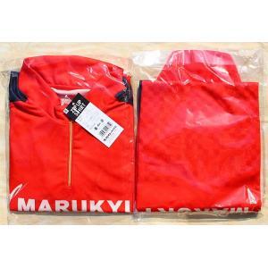 マルキュー ジップアップシャツ(レッド)5サイズ|kujirafc