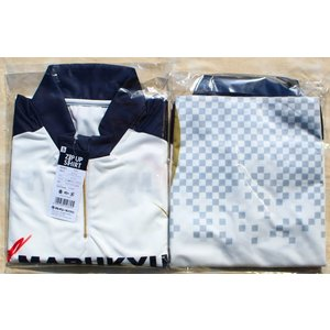 マルキュー ジップアップシャツ(ホワイト)5サイズ|kujirafc