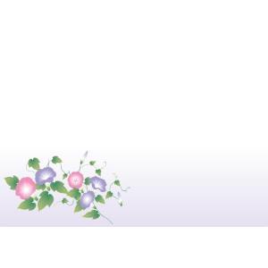 紙テーブルマット 朝顔(100枚入)|kukan-rinkle