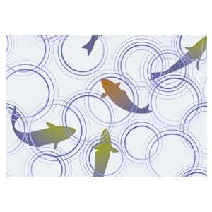 紙テーブルマット 波紋魚(100枚入)|kukan-rinkle