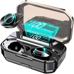 ワイヤレスイヤホン iphone  android 対応 bluetooth5.0 LED電池残量 ...