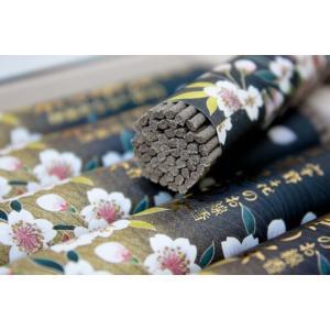 (高級線香)(黒塗箱入) 宇野千代のお線香 特撰淡墨(うすずみ)の桜|kumada|03