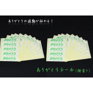 (オリジナル商品) ありがとうシール 横書 100ピース入|kumada