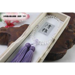 (メール便対応可)女性用数珠・念珠 選べる4種・水晶×貴石共仕立(メール便対応可)|kumada|03