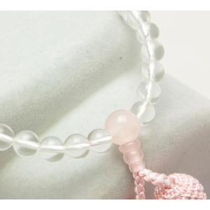 (メール便対応可)女性用数珠・念珠 選べる4種・水晶×貴石共仕立(メール便対応可)|kumada|06