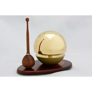 たまゆらりん金(ゴールド) 1.8寸 3点セット(本体+リン棒+りん台) 仏具 お鈴 おりん リン|kumada|05