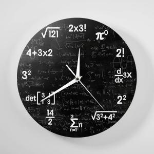 壁掛け時計 おしゃれ モダン シンプル 掛け時計 数学 ポップクイズクロック kumagayashop