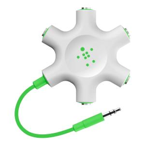 belkin マルチイヤホンスプリッターイヤホン分配分岐 ロックスター ライトグリーン|kumagayashop