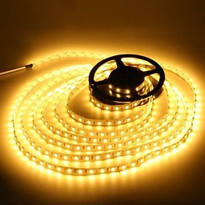 高輝度LEDテープライト SMD 2835 3528 5M 300連 強力粘着両面テープ 切断可能 (電球色)|kumagayashop