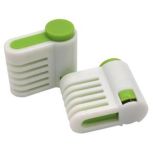 (SOWAKA) 均一 カット ケーキ スライサー 補助具 2個 セット (グリーン) kumagayashop