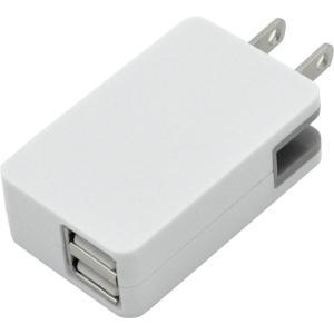 PLATA USB充電 ACアダプタ スマホ や ゲーム機 の 充電 に 旅行 や持ち運びに便利 コンパクトサイズ コンセント USB 変換 2ポート|kumagayashop