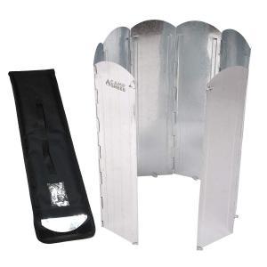 キャンプグリーブ大型反射板 大型風防板 8枚連結 長さ120cm 専用手さげつき収納ケース Oリング付属 固定可能 反射式 屋外 屋内 (シルバー kumagayashop