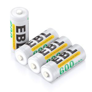 EBL 充電式ニッケル水素電池 Nサイズ 4個入り 600mAh 単5充電池 LR1 ケース付き|kumagayashop