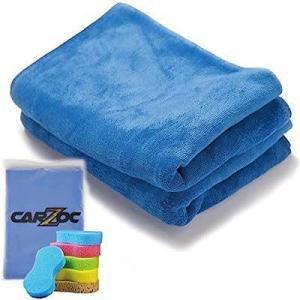 CARZOC最優秀賞 マイクロファイバー 超吸水 タオル 洗車職人 時短 2枚 スポンジ40cm × 55cm|kumagayashop