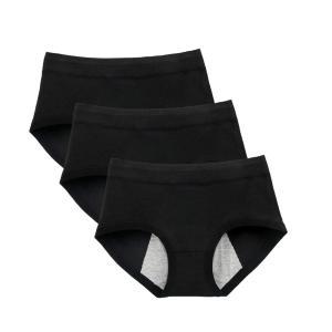HANERDUN サニタリーショーツ3セット 生理用 下着 パンツ レディース 三枚セット|kumagayashop