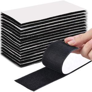 BESTU ベルクロ 両面テープ 5×10cm 面ファスナー パワフルピタクロ 超強力 防水 耐熱 マジックテープ 両面テープ付 車用 DIY用 家庭用 業務用 15ペア入り|kumagayashop